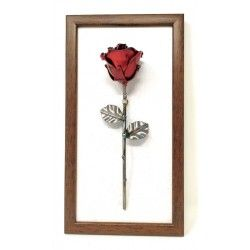 Frame with decorative rose for wall