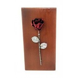 Decorative rose on wood for wall