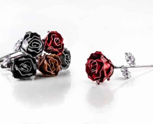 Handmade Wrought Iron Eternal Roses
