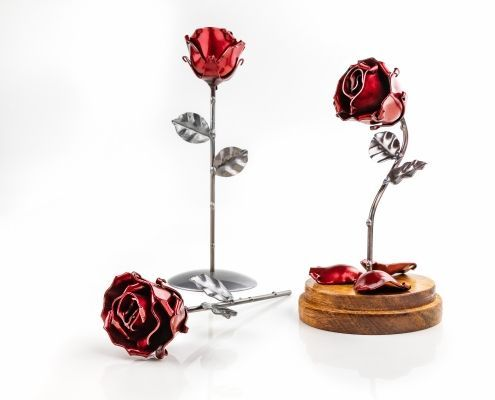 Eternal Roses of Wrought Iron - delightful ornament
